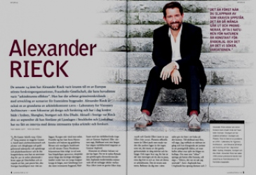 Alexander Rieck interview in Ljuskultur Sweden