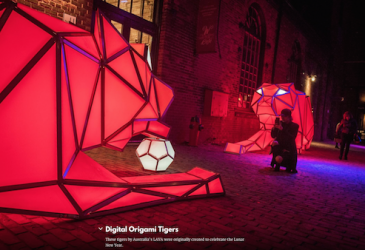 TIGERS IN TORONTO LIGHT FESTIVAL